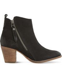 Dune - Pontoon Leather Ankle Boots - Lyst
