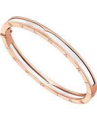BVLGARI - B.zero1 18kt Pink-gold Bangle Bracelet - Lyst