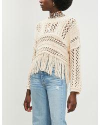 Free People - Higher Love Cotton-blend Open-knit Jumper - Lyst