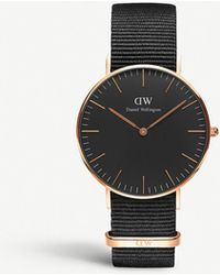 Daniel Wellington Classic Cornwall Rose Gold Watch - Black