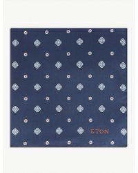 Eton of Sweden - Printed Silk Pocket Square - Lyst