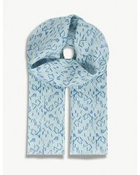 Richard James | Linear Stripe Linen Scarf | Lyst