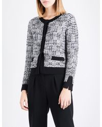 Claudie Pierlot | Contrast-trim Tweed Cardigan | Lyst