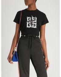 Givenchy - Logo-print Cotton-jersey T-shirt - Lyst