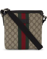 Gucci - Web Stripe Supreme Canvas Messenger Bag - Lyst