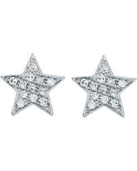 The Alkemistry - Julianna Himiko 14ct White-gold And Diamond Earrings - Lyst