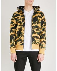 A Bathing Ape - Camouflage-print Reversible Cotton-jersey Hoody - Lyst