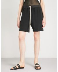 Rick Owens - High-rise Silk Shorts - Lyst