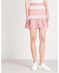 Sandro | Guipure-detail Lace Skirt | Lyst