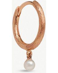 Annoushka - 18ct Rose Gold Hoopla Pearl Hoop Earring - Lyst