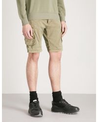 Alpha Industries - Cargo Stretch-cotton Shorts - Lyst