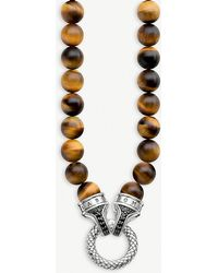 Thomas Sabo - Tiger's Eye Beaded Nacklace - Lyst