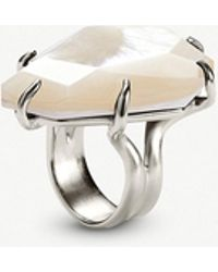 Kendra Scott - Megan Silver-tone Mother-of-pearl Ring - Lyst