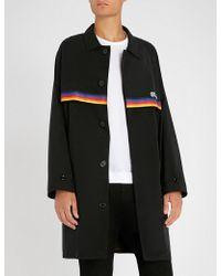 Gcds - Rainbow-trim Shell Jacket - Lyst