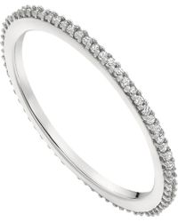 Monica Vinader - Skinny Sterling Silver And Diamond Eternity Ring - Lyst