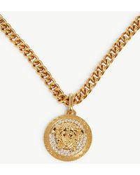 Versace - Medusa Pendant Gold-toned Necklace - Lyst