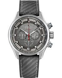 Zenith - 03.2282.400/91.r578 El Primero Sport Stainless Steel And Rubber Watch - Lyst