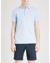 Tommy Hilfiger | Slim-fit Cotton-piqué Polo Shirt | Lyst