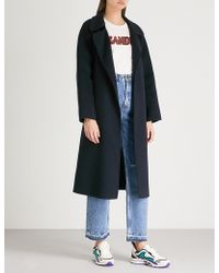 Sandro - Notch-lapel Wool Coat - Lyst