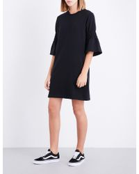 Izzue - Flared-cuff Cotton-blend Dress - Lyst