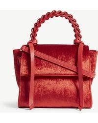 Elena Ghisellini - Scarlet Red Angel Velvet Shoulder Bag - Lyst