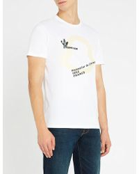 Moncler - Logo-print Cotton-jersey T-shirt - Lyst