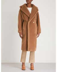 Max Mara - Teddy Camel-blend Coat - Lyst