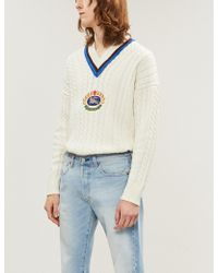Burberry - Cashmere Cotton Cricket Sweater - Lyst