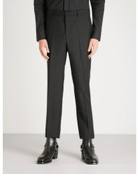 Givenchy - Slim-fit Tapered Wool And Mohair-blend Trousers - Lyst