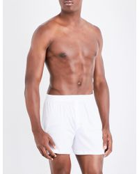 Sunspel - Sea Island Relaxed-fit Cotton Trunks - Lyst
