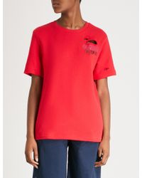 Izzue - Common People Embroidered Cotton-jersey T-shirt - Lyst