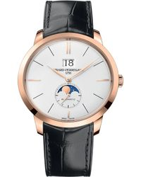 Girard-Perregaux - 1966-49556-52-131-bb6c Rose Gold And Leather Automatic Watch - Lyst