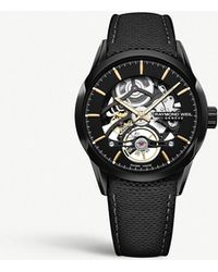 Raymond Weil - 2785.bc5.20001 Freelancer Pvd-plated Stainless Steel And Leather-strap Watch - Lyst