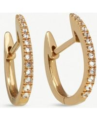 Annoushka - Half Pair- Eclipse 18ct Gold Brown Diamond Fine Hoop Earrings - Lyst