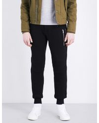 The Kooples Sport - Zip-detail Relaxed-fit Cotton Jogging Bottoms - Lyst