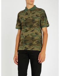 The Kooples - Camouflage Print Cotton-pique Polo Shirt - Lyst