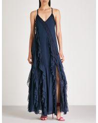 Alice + Olivia - Jayda Asymmetric Lace Maxi Dress - Lyst