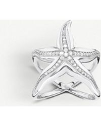 Thomas Sabo - Starfish Sterling Silver And Zirconia Ring - Lyst