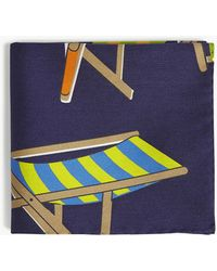 Eton of Sweden - Deck Chair Cotton And Silk-blend Pocket Square - Lyst