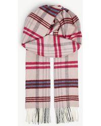 Maje - Check Wool-blend Scarf - Lyst