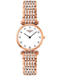 Longines - L42091977 La Grande Classique Rose Gold-plated, Mother-of-pearl And Diamond Watch - Lyst