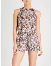Missoni - Wave-patterned Woven Playsuit - Lyst