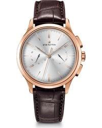 Zenith - 18.2270.4069/01.c498 El Primero Elite Rose Gold And Alligator Leather Watch - Lyst