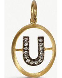 Annoushka - U 18ct Yellow-gold And Diamond Pendant - Lyst