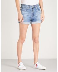 AG Jeans - Hailey Ex-boyfriend High-rise Denim Shorts - Lyst