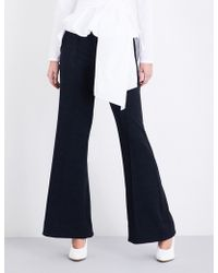 Finery London | Barby Flared Mid-rise Woven Trousers | Lyst