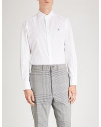 Vivienne Westwood - Logo-embroidered Regular-fit Cotton Shirt - Lyst