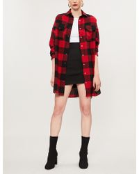 The Kooples - Checked Oversized Wool-blend Shirt - Lyst