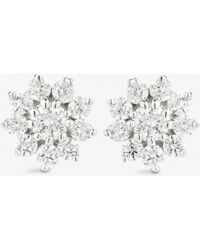 The Alkemistry - Dana Rebecca Starburst 14ct White-gold And Diamond Stud Earrings - Lyst
