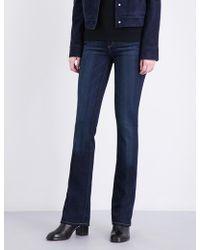 PAIGE - Manhattan Slim-fit Bootcut Mid-rise Jeans - Lyst